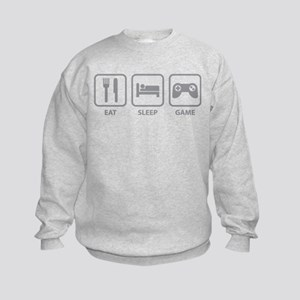 Eat Sleep Game Kids Sweatshirt