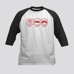 Eat Sleep Game Kids Baseball Jersey