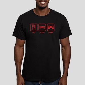Eat Sleep Game Men's Fitted T-Shirt (dark)