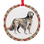 English Setter Round Ornament