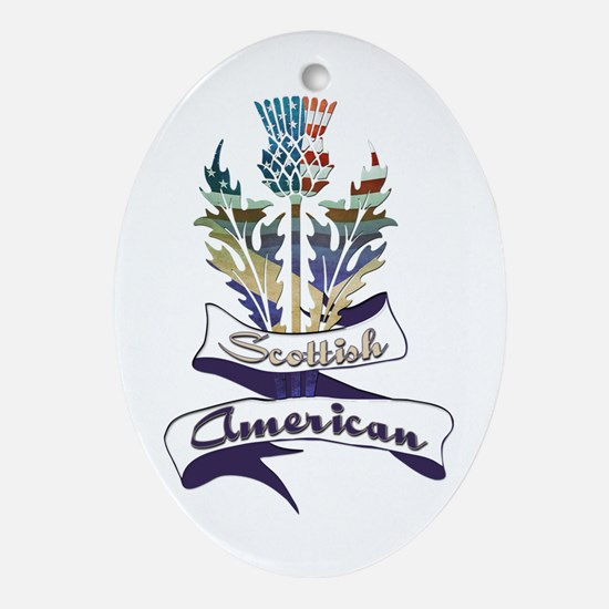 Scottish American Thistle Ornament (Oval)