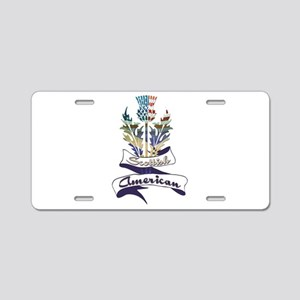 Scottish American Thistle Aluminum License Plate