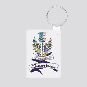 Scottish American Thistle Aluminum Photo Keychain