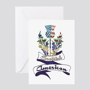 Scottish American Thistle Greeting Card