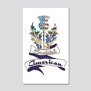 Scottish American Thistle 20x12 Wall Decal