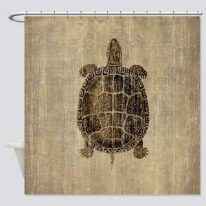 Vintage Turtle Shower Curtain