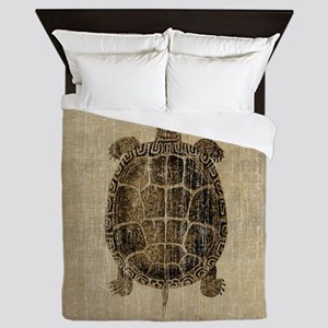 Vintage Turtle Queen Duvet