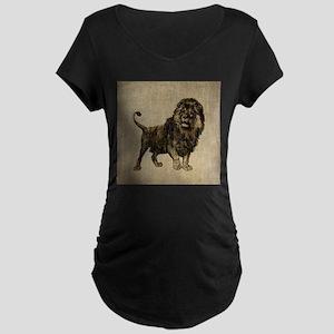 Vintage Lion Maternity Dark T-Shirt