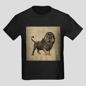 Vintage Lion Kids Dark T-Shirt