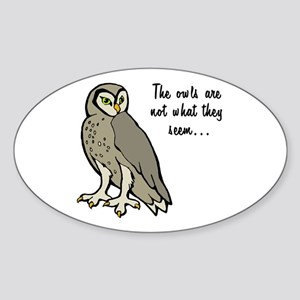 The Owls Sticker (Oval)