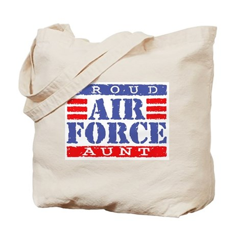 Proud Air Force Aunt Tote Bag