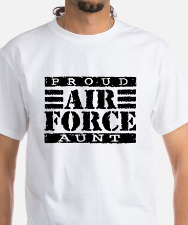 Proud Air Force Aunt White T-Shirt
