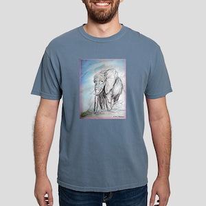 Elephant! Wildlife art! Mens Comfort Colors Shirt