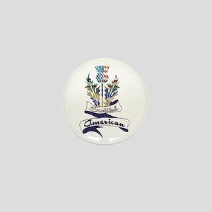 Scottish American Thistle Mini Button