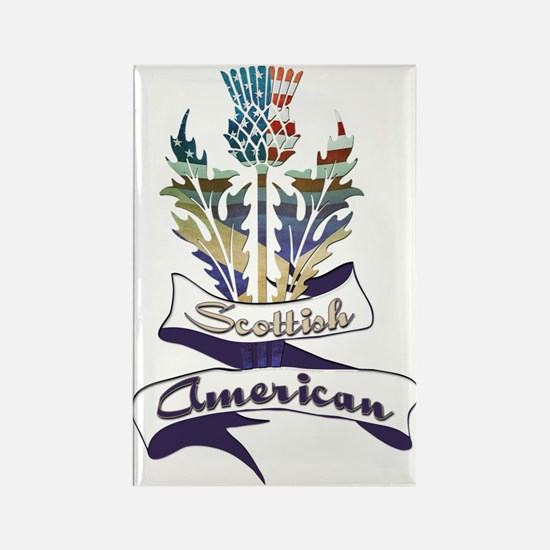 Scottish American Thistle Rectangle Magnet