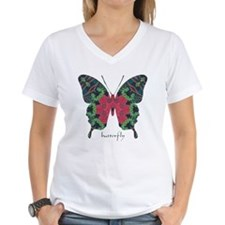 Yule Butterfly Women's V-Neck T-Shirt