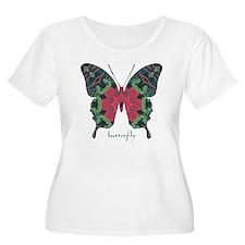 Yule Butterfly Women's Plus Size Scoop Neck T-Shir