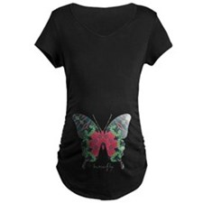 Yule Butterfly Maternity Dark T-Shirt