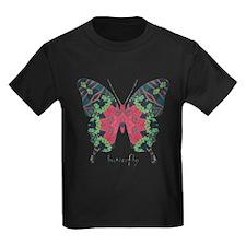 Yule Butterfly Kids Dark T-Shirt