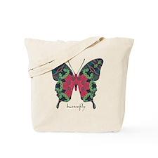 Yule Butterfly Tote Bag