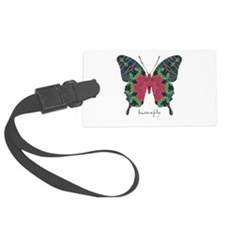 Yule Butterfly Large Luggage Tag