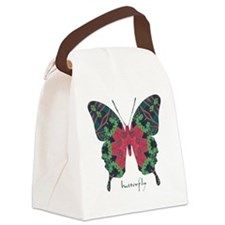 Yule Butterfly Canvas Lunch Bag