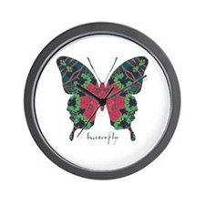 Yule Butterfly Wall Clock