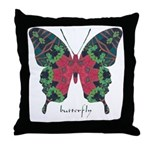 Yule Butterfly Throw Pillow