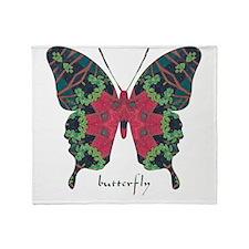 Yule Butterfly Throw Blanket