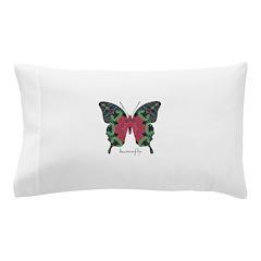 Yule Butterfly Pillow Case