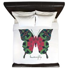 Yule Butterfly King Duvet