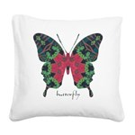 Yule Butterfly Square Canvas Pillow