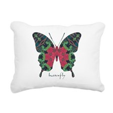 Yule Butterfly Rectangular Canvas Pillow