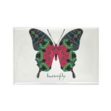 Yule Butterfly Rectangle Magnet