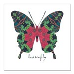 Yule Butterfly Square Car Magnet 3
