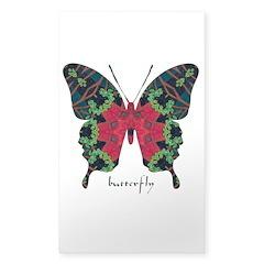 Yule Butterfly Sticker (Rectangle)