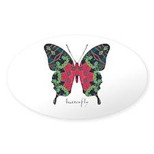 Yule Butterfly Sticker (Oval)