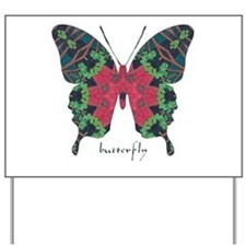 Yule Butterfly Yard Sign