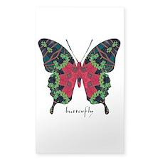 Yule Butterfly Sticker (Rectangle 10 pk)
