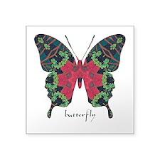 Yule Butterfly Square Sticker 3