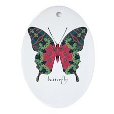 Yule Butterfly Ornament (Oval)