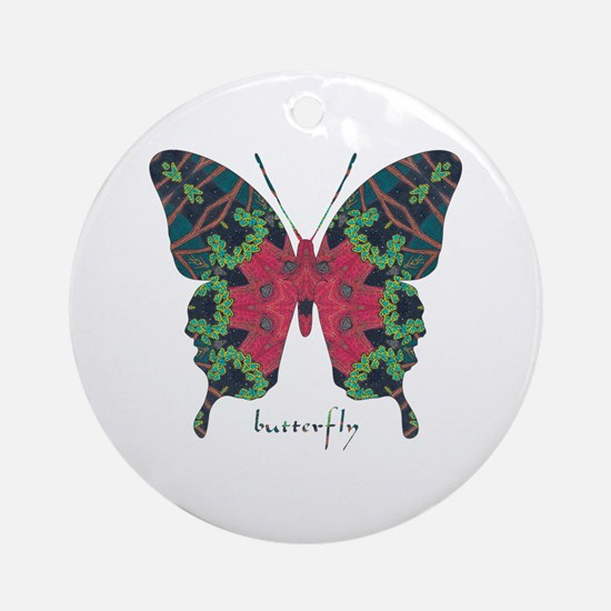 Yule Butterfly Ornament (Round)