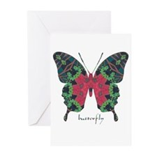Yule Butterfly Greeting Cards (Pk of 10)