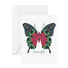 Yule Butterfly Greeting Card