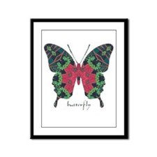 Yule Butterfly Framed Panel Print