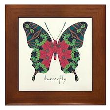 Yule Butterfly Framed Tile