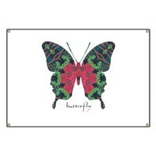 Yule Butterfly Banner