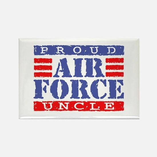 Proud Air Force Uncle Rectangle Magnet