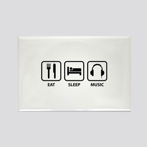 Eat Sleep Music Rectangle Magnet