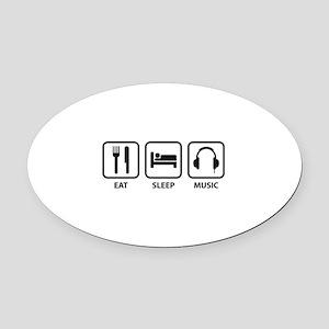 Eat Sleep Music Oval Car Magnet